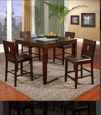 Counter height wooden dining table with four chairs   Laurel, 20708