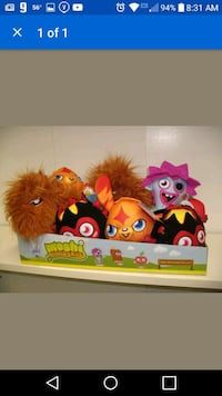 Moshi Monster characters plush toy collection scre