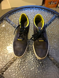 Pair of black leather shoes size 8