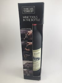 WINE TOOLS SET IN BOTTLE BY THINKTANK TECHNOLOGY, NEW IN ORIGINAL BOX