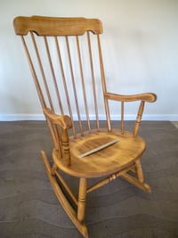 Vintage Large Bottom Rocking Chair