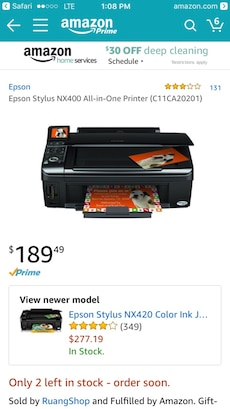 Epson NX400 All-in-One Printer