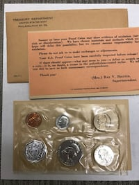 1961 5 Coin Mint proof sets in original packaging from Mint Brea, 92821