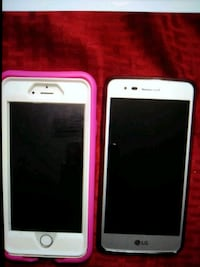 white iPhone 6 and silver lg Tallahassee, 32304