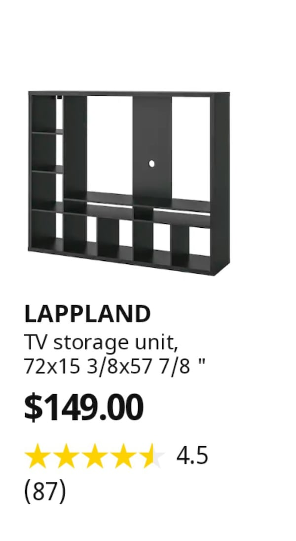 Ikea Lappland TV Storage Unit 2