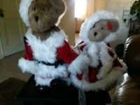 two white and brown bear plush toys Roanoke, 24017