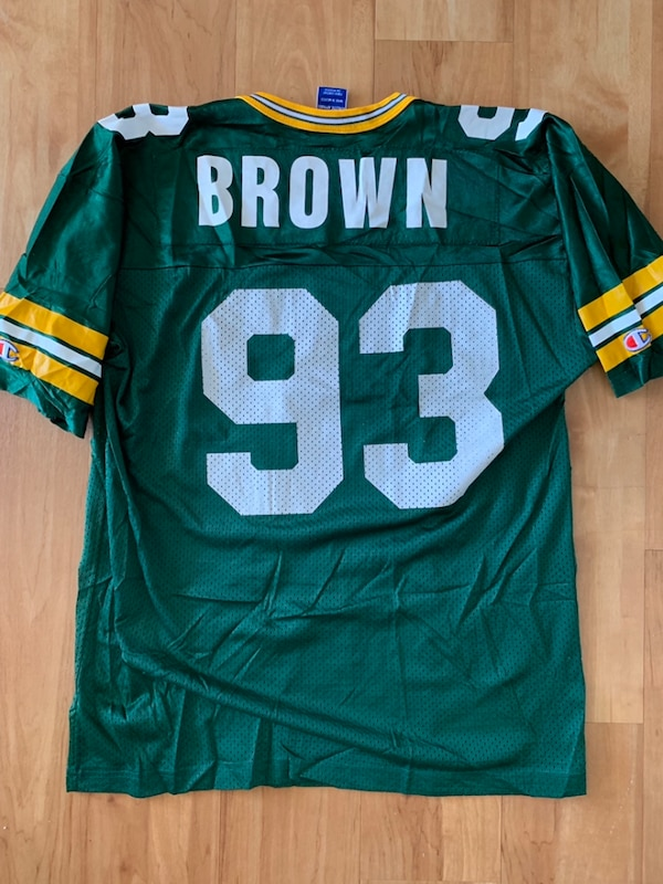 big sale 98316 68d65 Green Bay Packers Gilbert Brown NFL Champion Jersey Size 44 Large Vintage L  #93