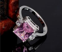 New! SALE $5 OFF! Pink Square Sapphire with White  Amarillo, 79109