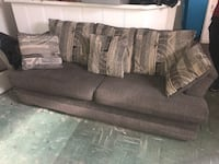 Gray and white fabric sofa Parkville