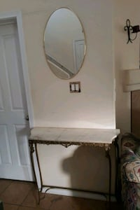 Entry way table and mirror