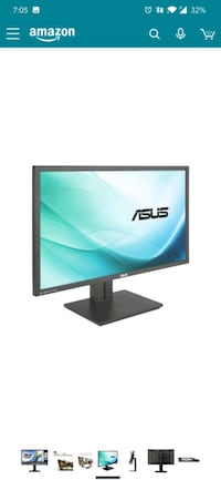 "ASUS PB287Q 28"" 4K/ UHD 3840x2160 1ms DisplayPort HDMI Ergonomic Back-"