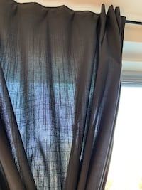 Gray IKEA Ritva curtains with tie-backs Bethesda, 20814