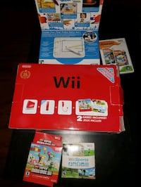 Limited edition Red Wii system and games