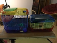 Hamster cage,  many attachments, comes with a basket full of extra accessories, bedding, etc... $50 Obo Prospect, 16052
