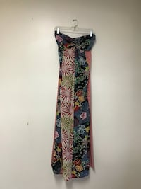 Women's FIRE LOS ANGELES 100% cotton strapless maxi dress…multi-pattern..medium