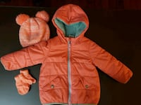 12-24 Months Baby Girls Coat with Hat and Mitten S 63 km