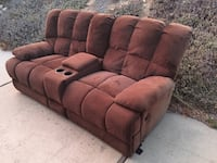 2 Brown Microfiber Couches Poway, 92064