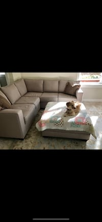 Giant Sectional and Storage Ottoman (7'6 x 7'6!!) - Amazing Condition!! Chino Hills