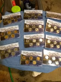 National parks state quarters proof proof sets Reading, 19602