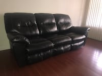 Black couch with reclining chairs Torrance, 90504