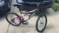 black and red Mongoose full-suspension bike Hockley, 77447