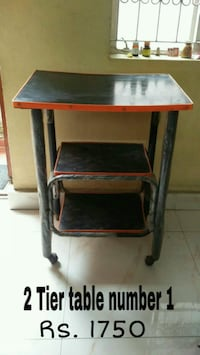 black and red wooden folding table Bengaluru