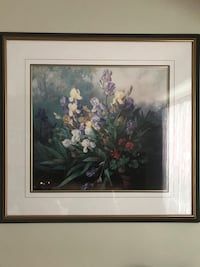 white and pink petaled flowers painting Keswick, L4P 3P2