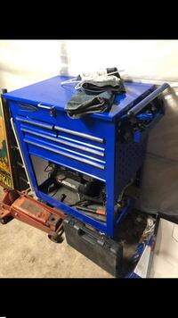 Blue point tool box by snap on
