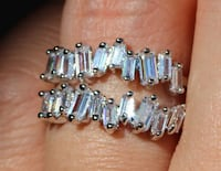 Amazing Sterling Silver w/ Baquette Cut White Sapphires Double Ring SALE!!!!!!!!!!! Coleman, 76834