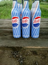 two blue and red Pepsi-Cola plastic bags