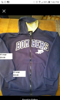 Winnipeg Blue bombers adult SZ large hoodie