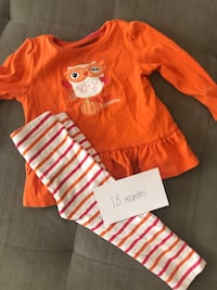 Little girls orange owl outfit - 18months Columbia, 21044