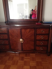Real wooden dresser from Mobilia; EUC; moved and is too big for new place.  64H x17Wx74L with mirror. Vaughan, L4L 2H7