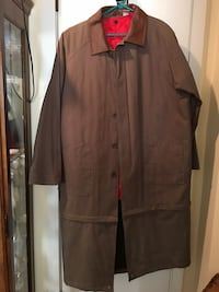 Men's trench coat with removable thermal shell. Pen Argyl, 18072