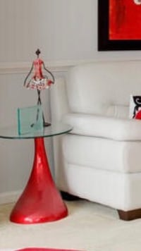 white and red table lamp Baltimore, 21206