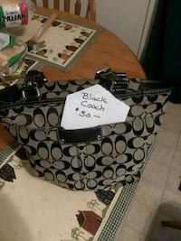 black and gray Coach monogram tote bag Hagerstown, 21740
