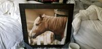 Wall decor Horse  Framed Canvas Art wooden decor Union City, 30291