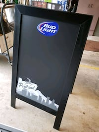Budweiser & Bud light two sided chalk board with P