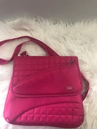 women's red leather sling bag 3135 km