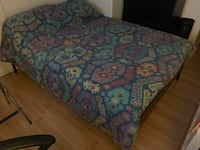 Full size bed with mattress/frame