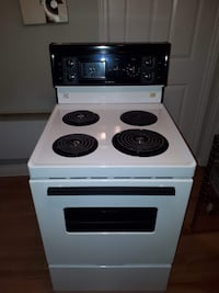 white and black electric coil range oven Montréal, H8R