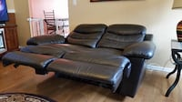 Leather love seat null