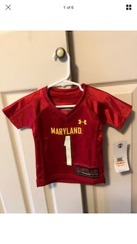 "New-Under Armour Toddler Size 12 Months Red "" Maryland"" Shirt Baltimore, 21236"