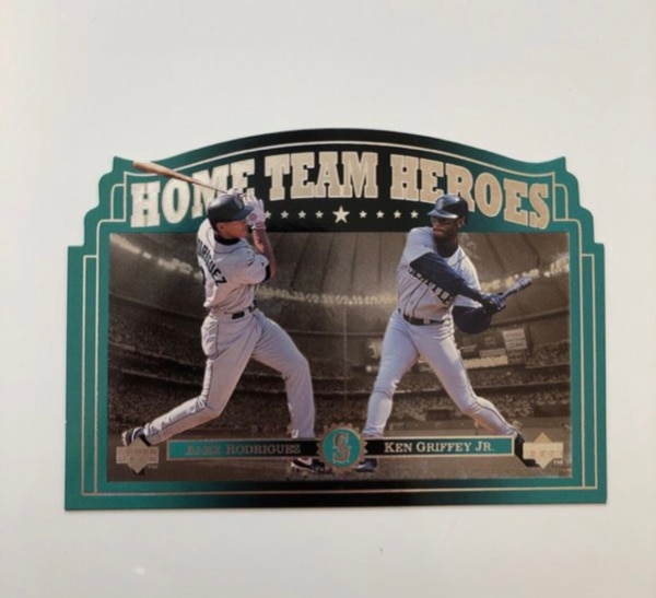 Griffy And A Rod Baseball Card Mariners