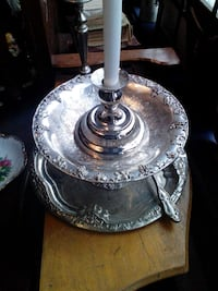 round silver-colored tray Montreal, H8S 3P7