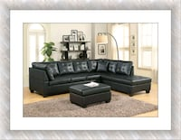 Black sectional with free Ottoman and delivery McLean