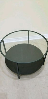 round black metal framed glass top table Toronto, M1S 5C6