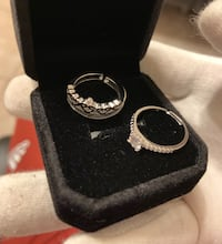 Promise and engagement set rings