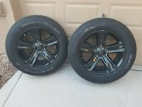 Set of 4 20 inch black alloy tires and wheel pack Las Vegas, 89131