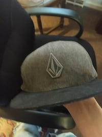 gray and black Volcom snapback hat Richmond, 23236